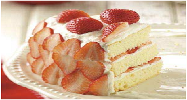 Strawberry Indulgence In Cake