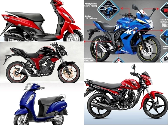 Best 5 Suzuki Scooters and Bikes featuring the SEP Technology